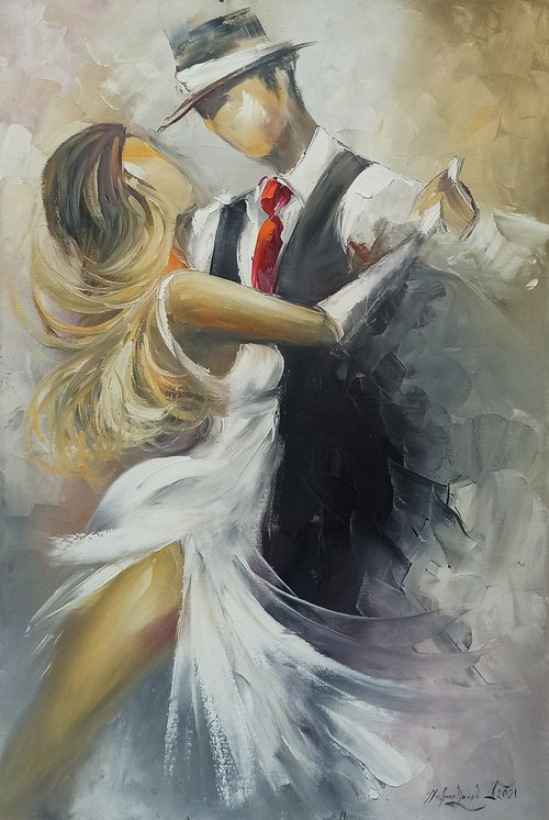 Tango-2 (60x90cm, oil painting, ready to hang)