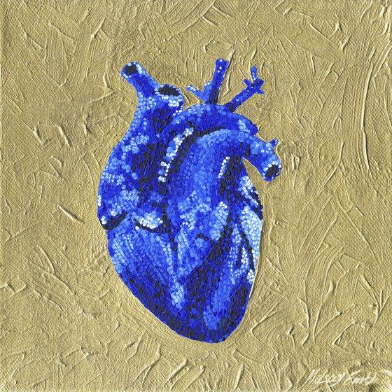 """Hypercholesterolemia"" Blue Monochrome Acrylic Painting"