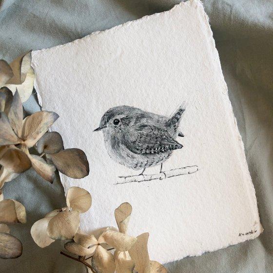 Small Wren Portrait (A6)