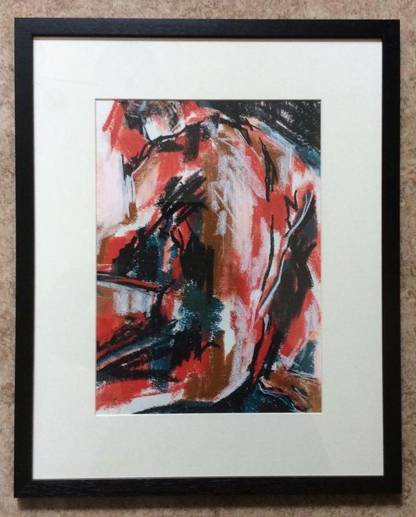 Male Nude No 1 Original Acrylic Painting Original Modern Art