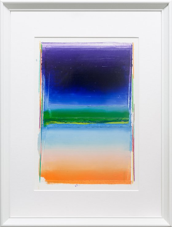 Modern Abstract Oil Painting, BREATHE- A#10, 30x40cm, Framed and Ready to Hang