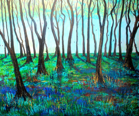 Bluebell Wood VI  (Extra Large 120 cm x 100 cm)