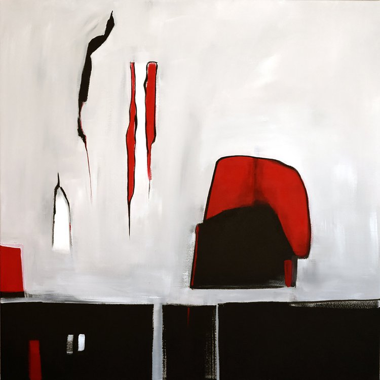 Abstract Art Red Square