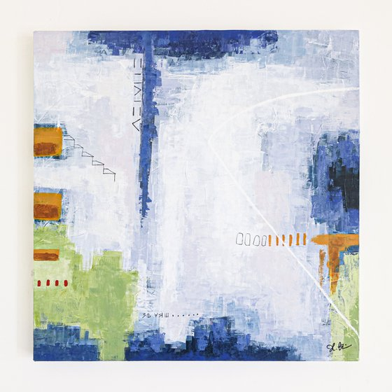 """Abstract Painting - Daydream of Saturday (Original, 30""""x30"""" 