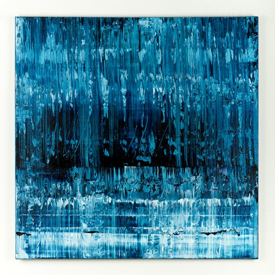 Blue abstract painting BF312