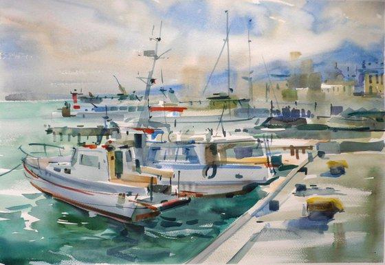 Wharf of Yalta. Crimea.