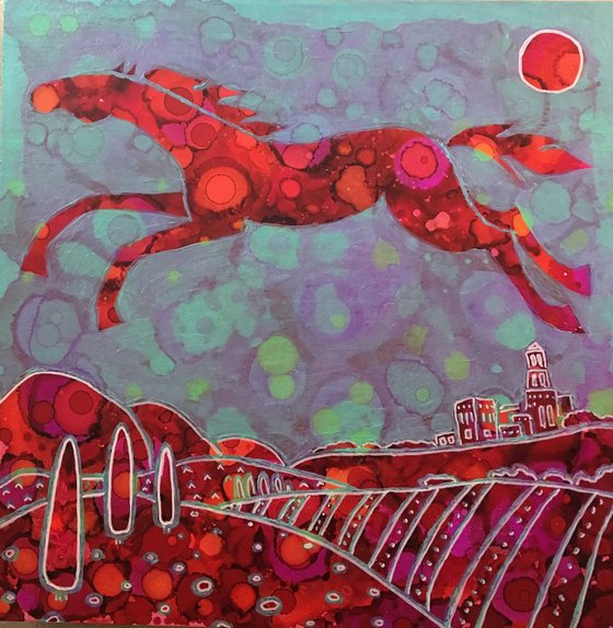Abstract horse. Andalusia