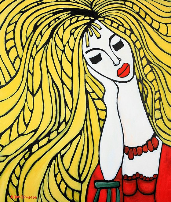 Yellow Haired Woman