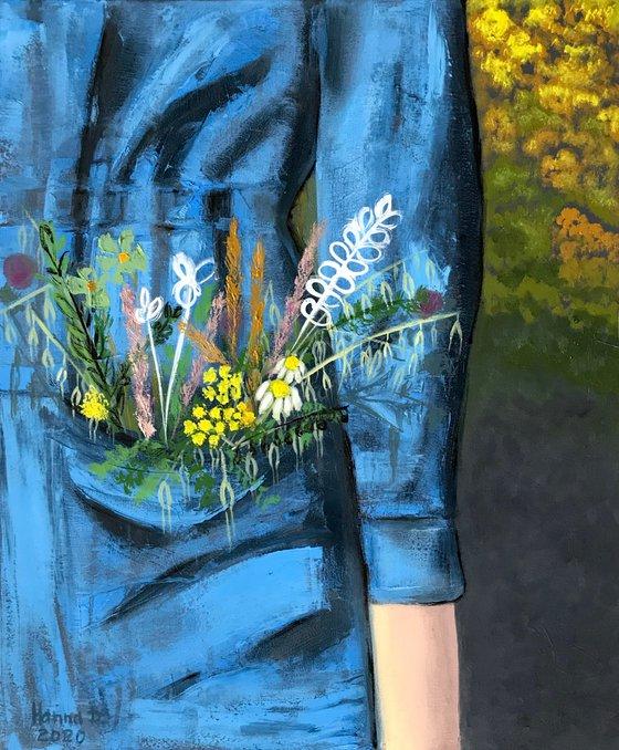 Flowers in a pocket