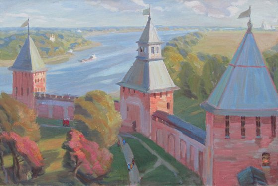 Novgorod. The view from the watchtower.