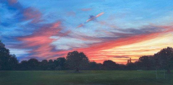 Sunset in Mill Hill Park (V)