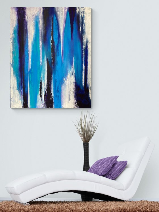 Strangers - Abstract - Large Size - Canvas - Read to Hang Up