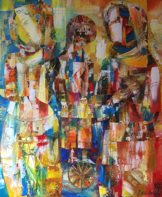 On the wheel (50x60cm oil/canvas)