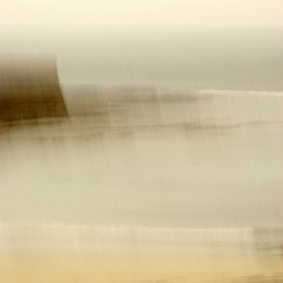 Harbour Wall, abstract impressionist seascape