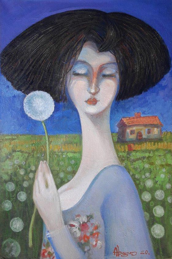 Spring dream 40x60cm ,oil/canvas