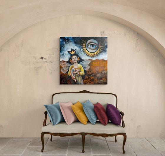 Painting | Acrylic | Cosmic Joke