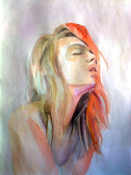 Girl portrait (30x42x0.2 watercolor on paper)