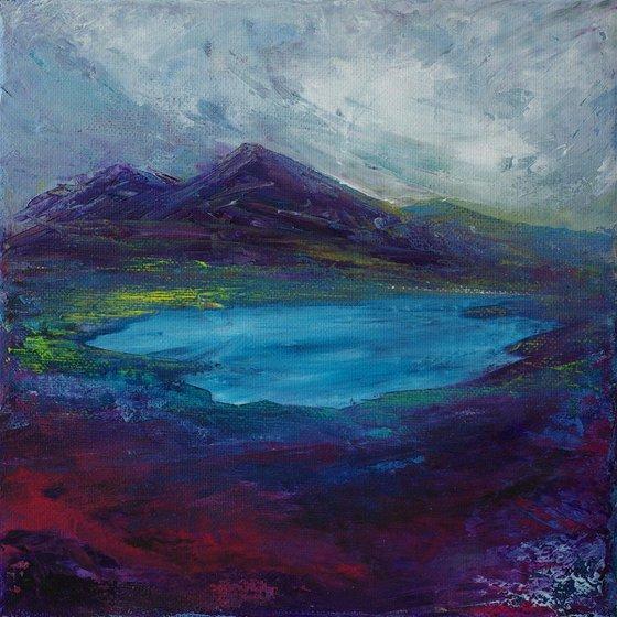 Lochan Gorm 1, impressionist Scottish mountain loch landscape