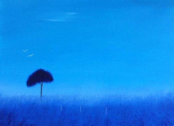 """Blue Haze"" 40x30cm"