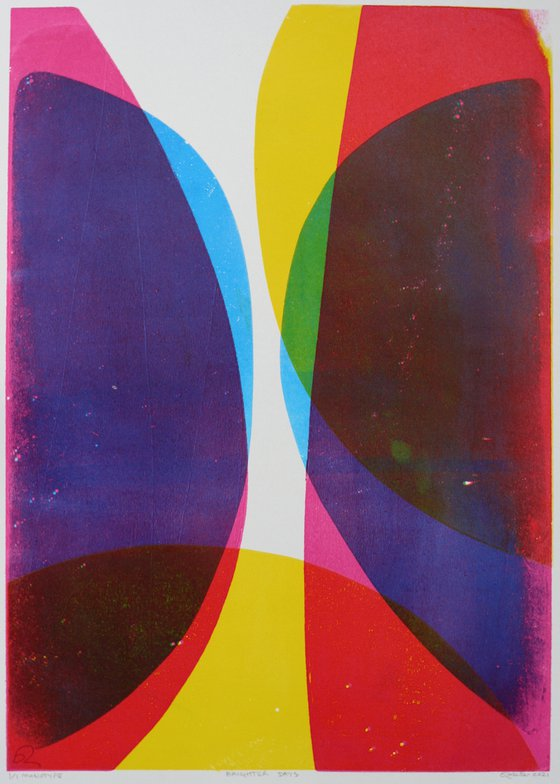 Brighter Days - Unmounted Signed Monotype