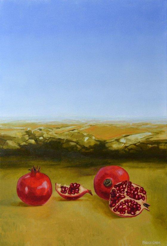 pomegranats, 90x60cm