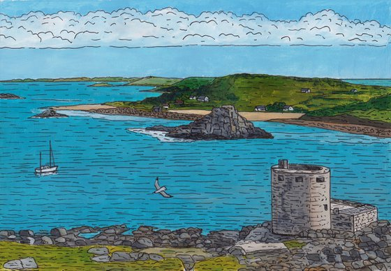 View from Cromwell's Castle, Tresco, Isles of Scilly