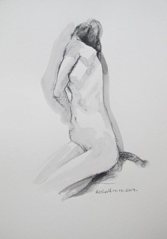 Kneeling female nude