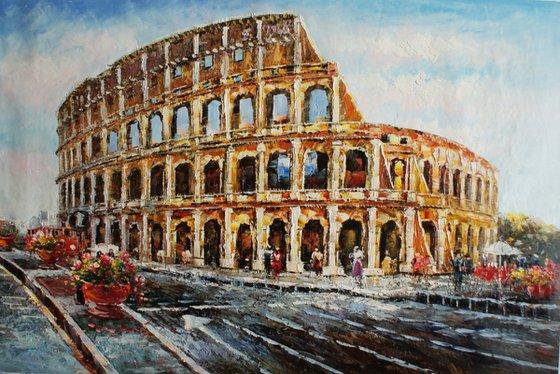 """""""Rome"""" canvas / oil. Size 60x90 cm."""