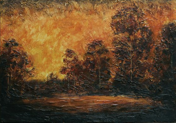 """copy of Albert Blakelock's """"Afterglow"""""""