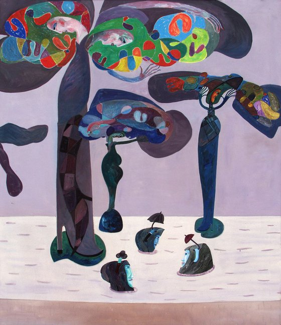 The Strollers (120x140cm)
