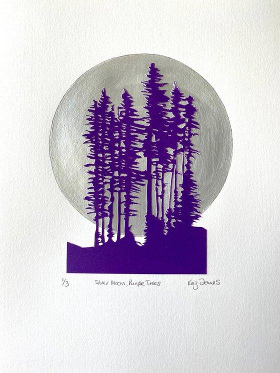 Silver Moon Purple Trees