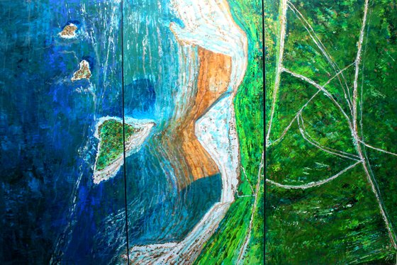 Freshwater Flight I, II and III Triptych (Extra Large 100 cm x 150 cm)