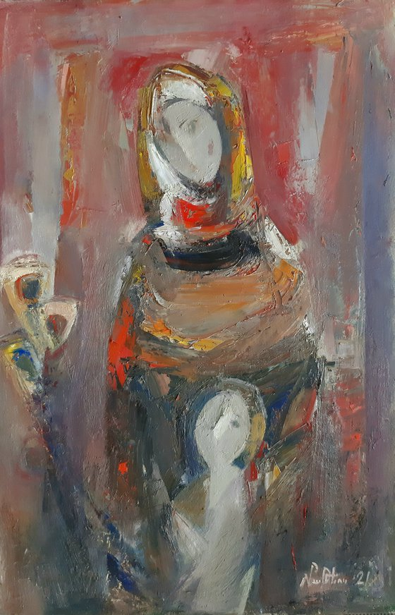 Maternity 40x60cm, oil painting, ready to hang