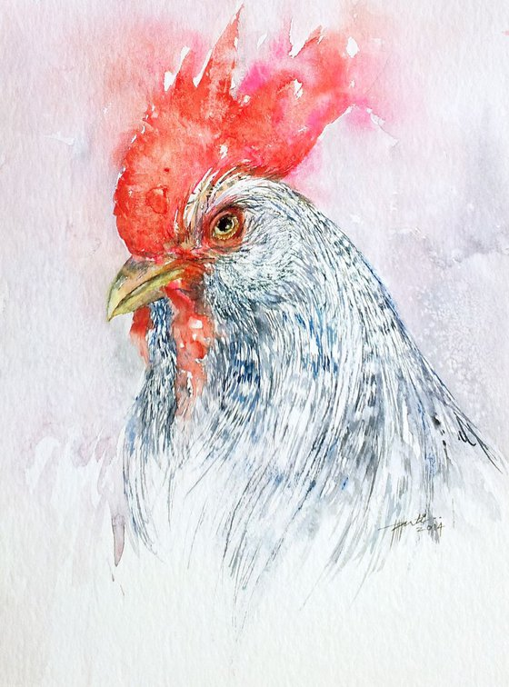 Speckled Rooster Portrait