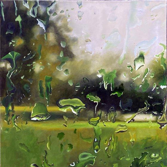 Cleansing Rain 24x24 in 60x60 cm