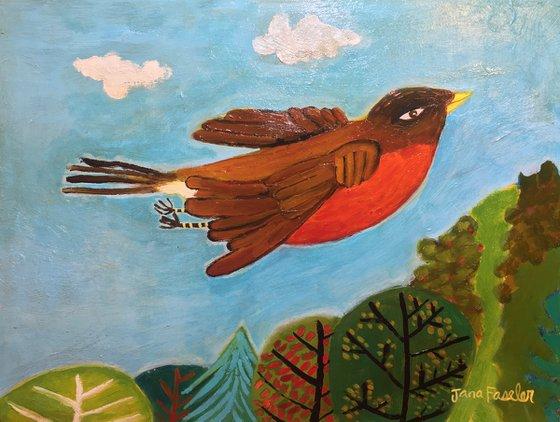 A Flying Robin