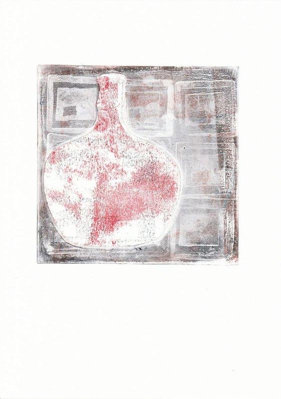 Monoprint - Still life no. 6