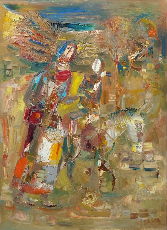 Armenian village(30x40cm, oil painting, paper)