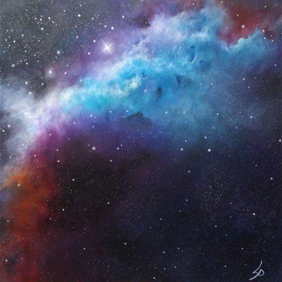 'Transcendent' - Space Art, Finger-Painted, Modern Art, Impressionist