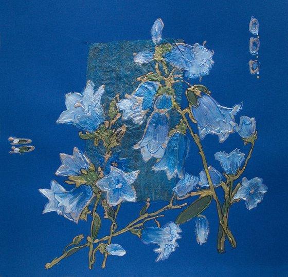 Blue bellflowers