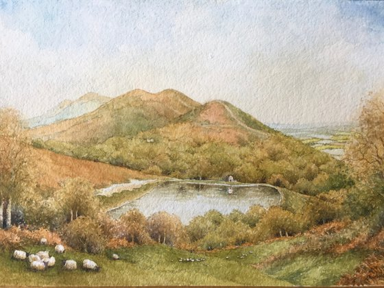 The Malvern Hills.  Worcestershire Beacon from British Camp.