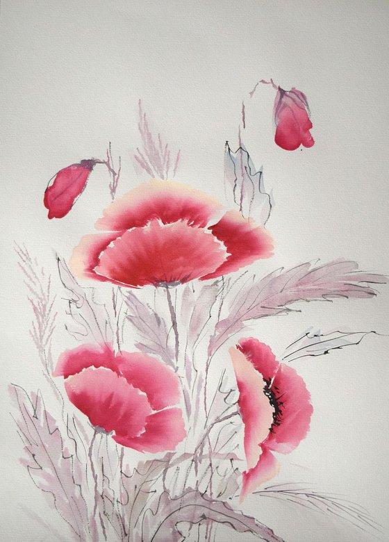 """Watercolour Flower's composition #1"" 41 х 29.5 (A3 size)"