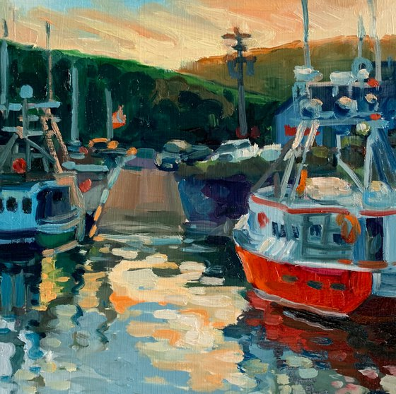 Fishing Boats at Alma, New Brunswick