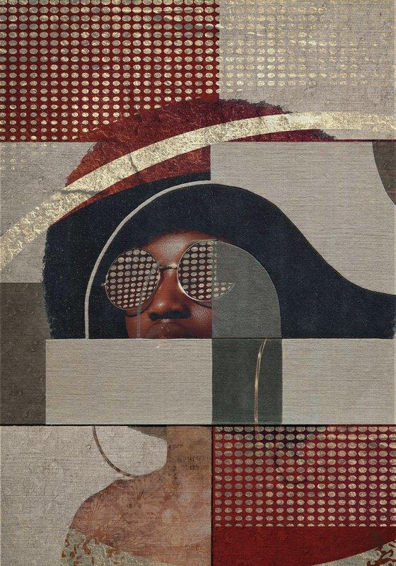 "Face art collection ""Fedbergsun"" - Vol 42. Art portrait on canvas"