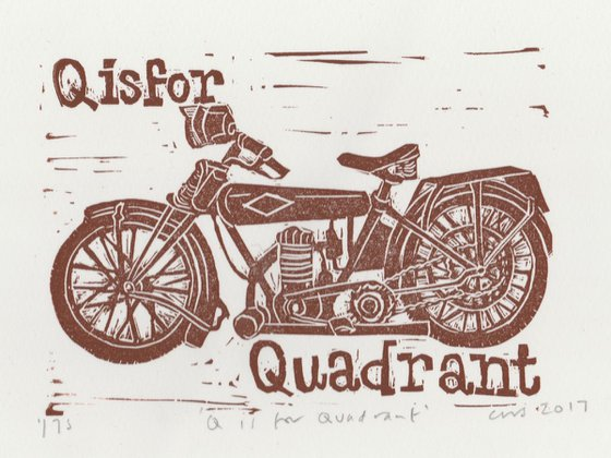 Q is for Quadrant Motorcycle