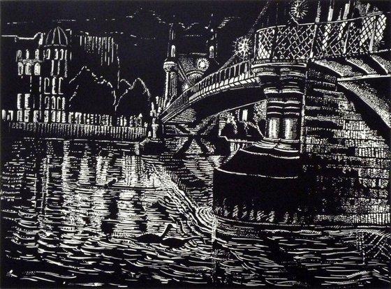 Hammersmith Bridge By Night