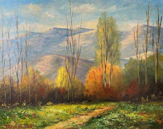 "Oil painting on canvas -  Landscape by Martiros Martirosyan - Original One-of-a-Kind Fine Art -  15.7"" x 19.7"" (40x50 cm)"