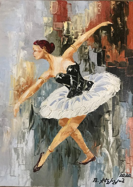 Ballerina 30x40cm, oil painting, ready to hang