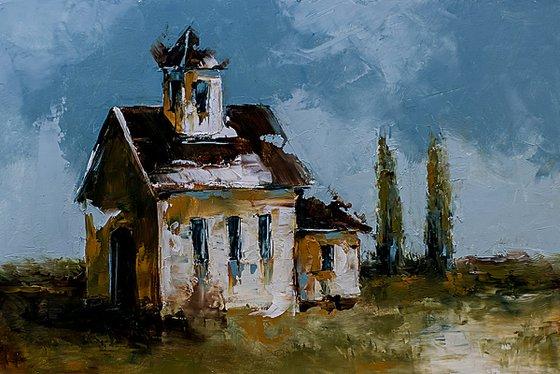 Old house in landscape