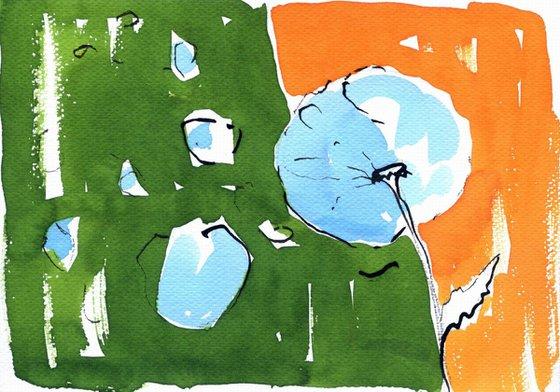 Dandelion - watercolor framed